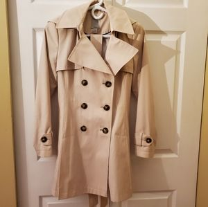 Halogen Double-Breasted Trench Coat